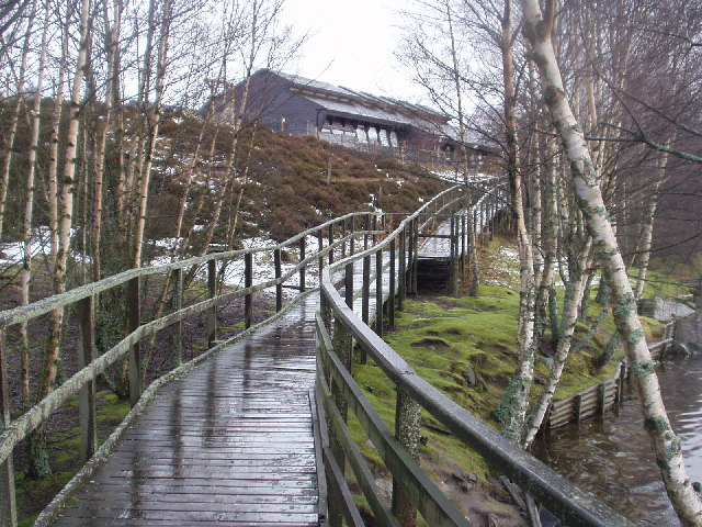 The Highland Wildlife Park Visitor Centre near Aviemore