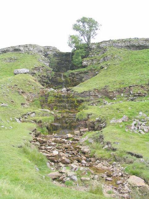 Waterfall at Cow Close Gill