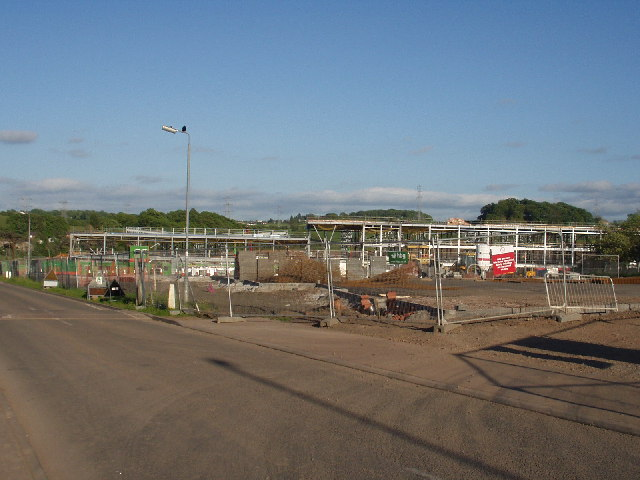 The site of the new Williamwood High School