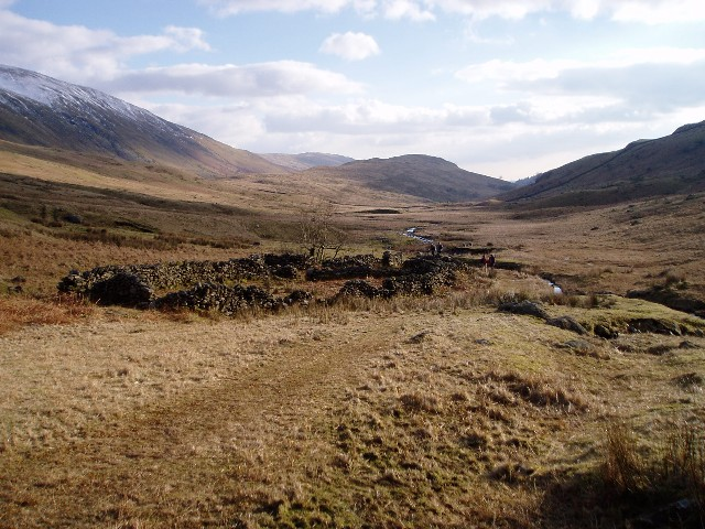 Ruined sheepfold in the upper Troutbeck valley