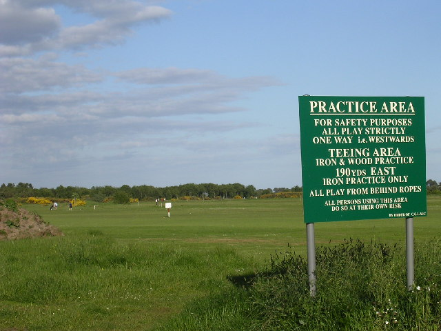 Golf practice area at Barry