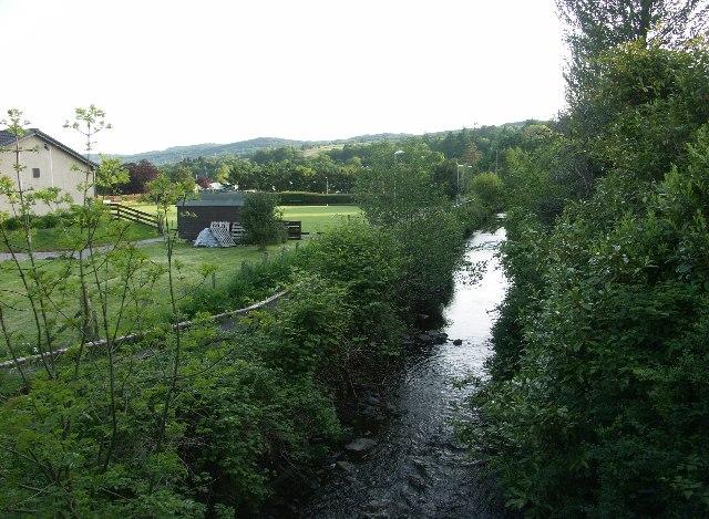 Stream near Christ Church, Lochgilphead and bowling club
