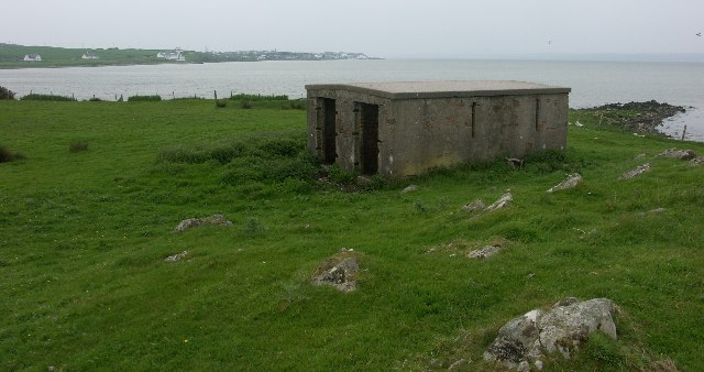 WWII military building between Bowmore and Bridgend