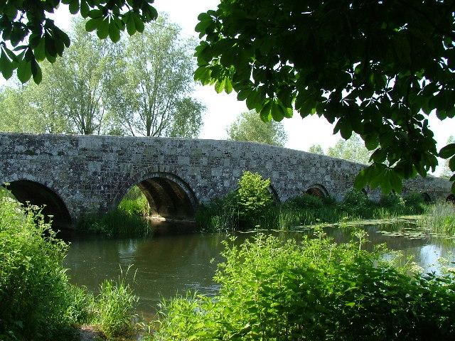 The Packhorse Bridge at Spetisbury Dorset