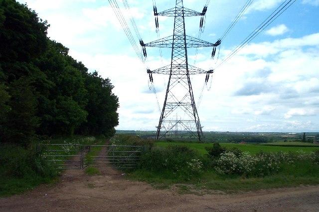 Electric pylons near Warsop