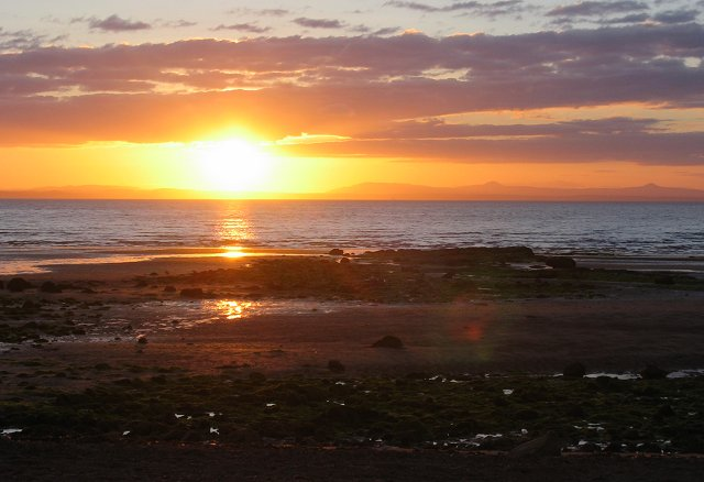 Sunset from Longniddry Bents.