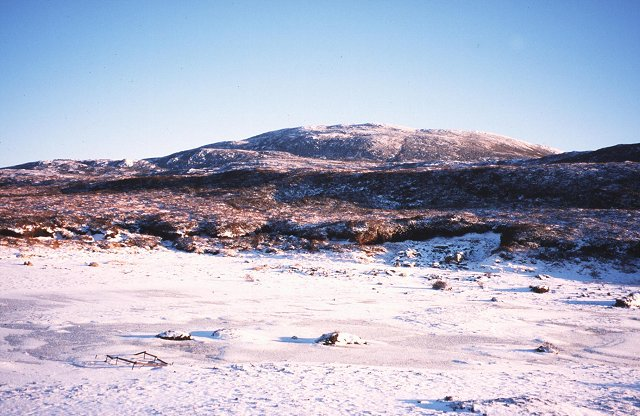 Frozen beach, Loch ma Stac