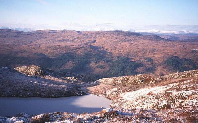 Lochan on Beinn a'Bhacaidh