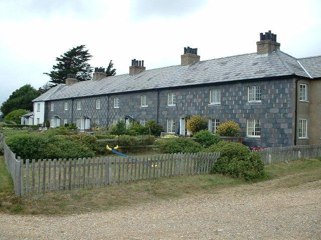 Coastguard cottages at Lepe Hampshire
