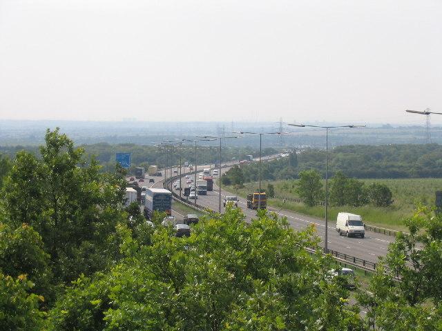 M25 Motorway, Great Warley, Essex