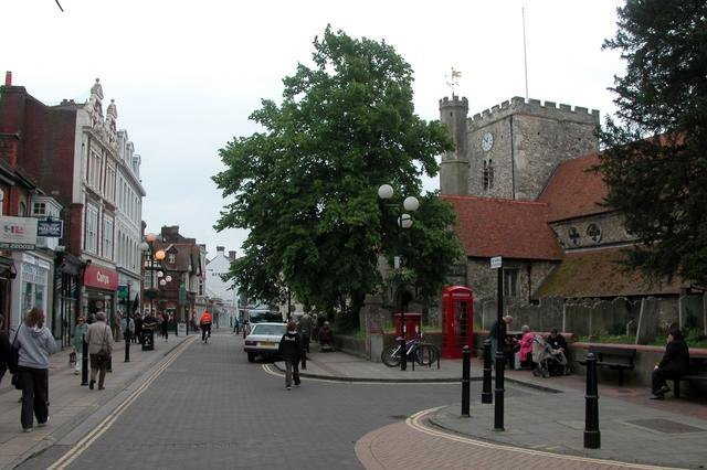 West Street and St Faiths church, Havant