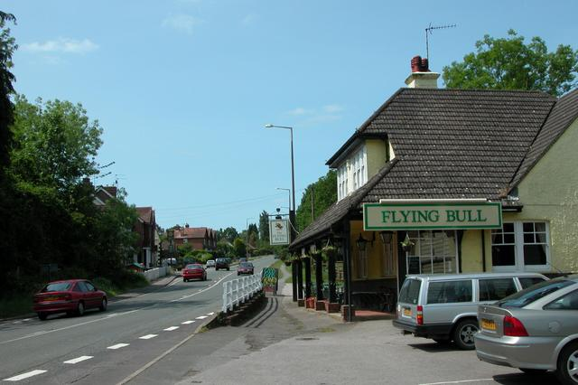 The Flying Bull, on the A3 at Rake.