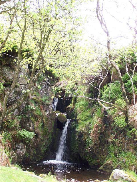 Unnamed waterfall on Harthope Burn