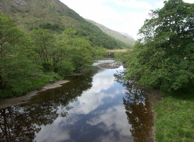 View West from Sallachan Bridge near Ardgour in Argyll