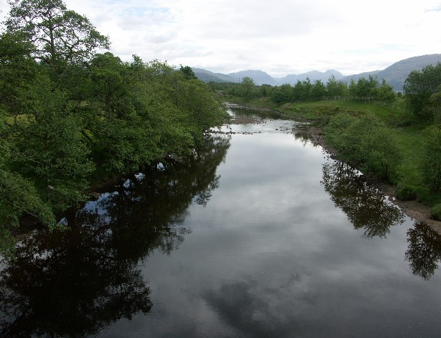 View East from Sallachan Bridge near Ardgour in Argyll