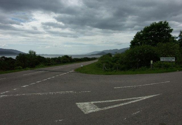 A861 near Clovullin