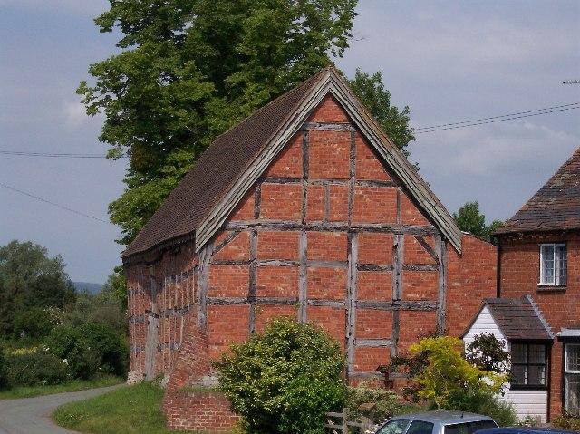 Timber-framed barn, Baughton.