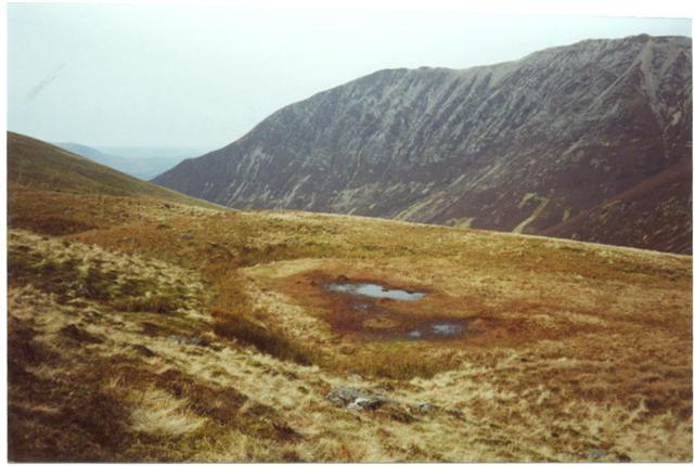 Dried up tarn Gasgale Gill