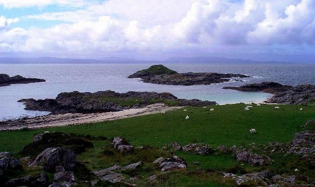 The coast at Port nam Murrach, near Arisaig