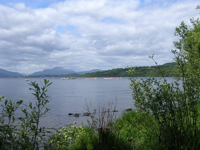 Ben Lomond from Loch Lomond Shores, Balloch