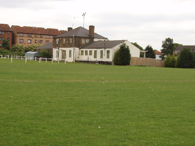 Sports pavilion, corner of Argyle Road and Western Avenue, Perivale