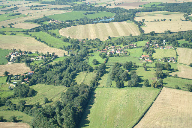 Aerial view of Itteringham