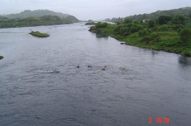 Snorkellers from Clachan bridge