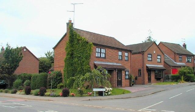 Houses on Mortimer Way, Loughborough