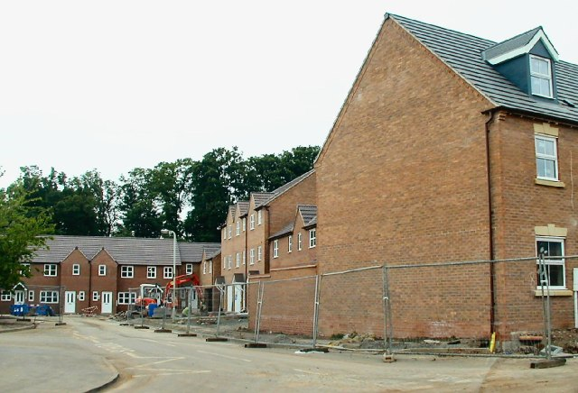 Housebuilding off MaxwellDrive, Loughborough