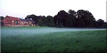 SK5244 : Afternoon mist in field at Hempshill by Lynne Kirton
