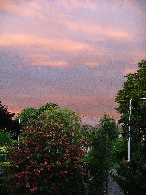Evening Sky over Nuthall