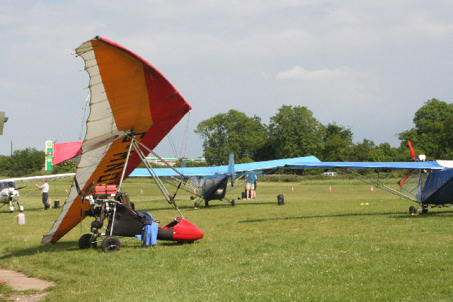 Microlight at Popham