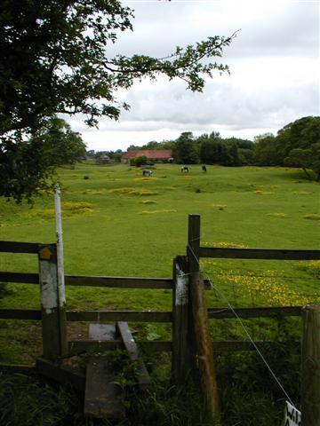 Stile on Footpath through Woodhouse Farm
