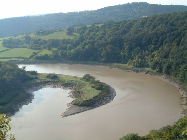 A view north of the River Wye, Lancaut, Chepstow