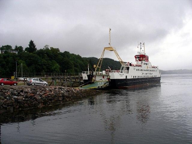 CalMac ferry at Lochaline