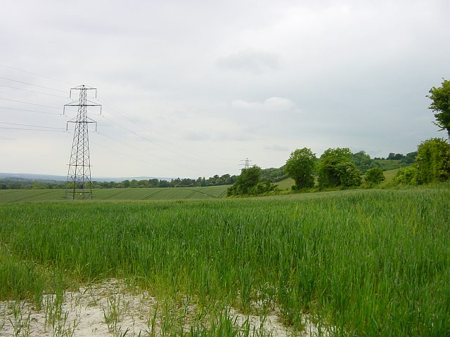 Looking west from Fox Farm Cottages, Coldblow Lane