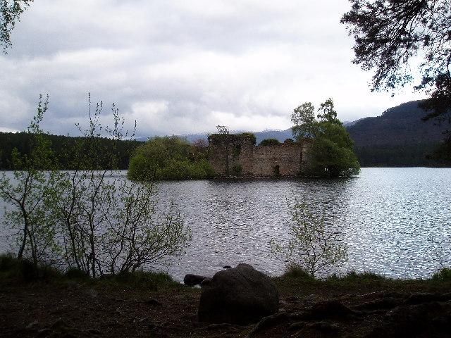 Loch an Eilein, the castle.