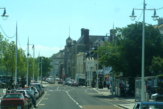 Bideford Quayside and main through road