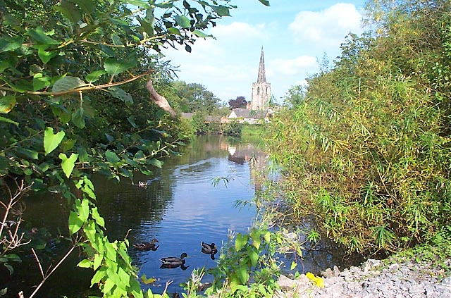 Attenborough Church from the Nature Reserve