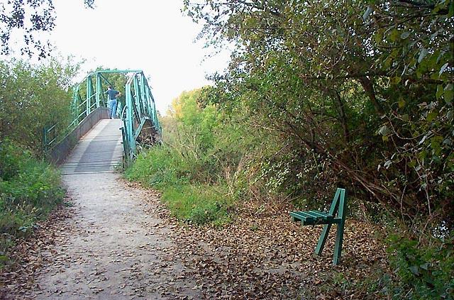 Footbridge in Attenborough Nature Reserve