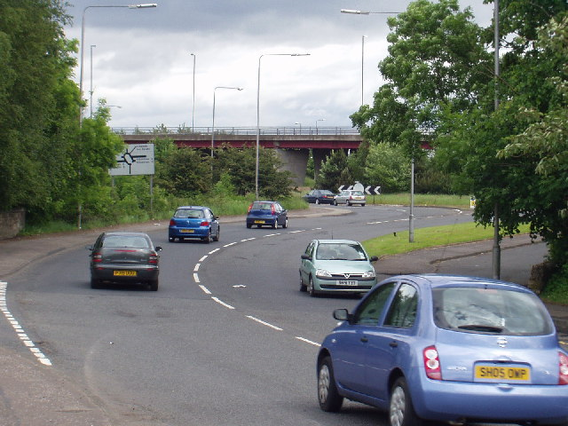 Linwood: Junction between A761 and A737