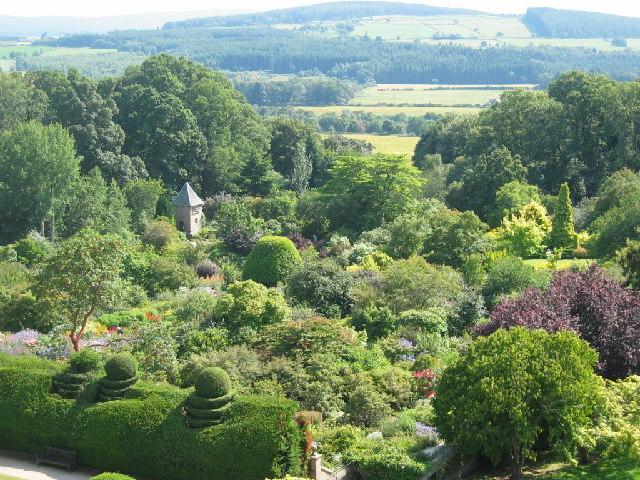 View of Crathes Castle Garden
