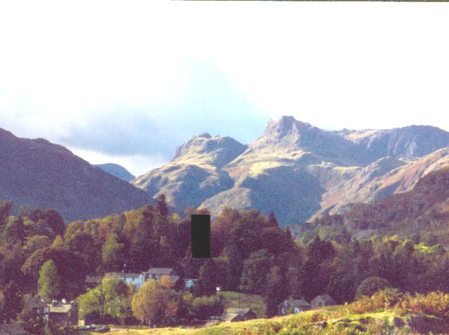 Langdale Pikes from Elterwater Common