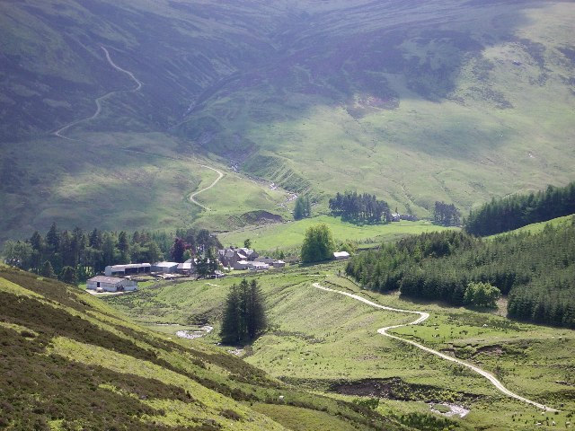 Auchnafree from the north east
