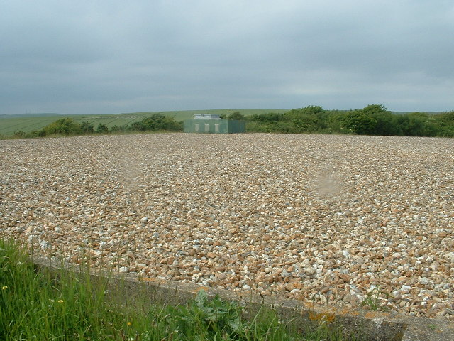 Reservoir on Chalk downs