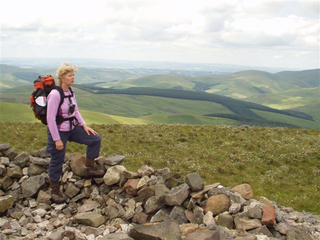 Reaching the Top of Windy Gyle