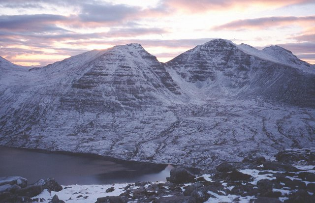 Baosbheinn and Loch na Oidhche.