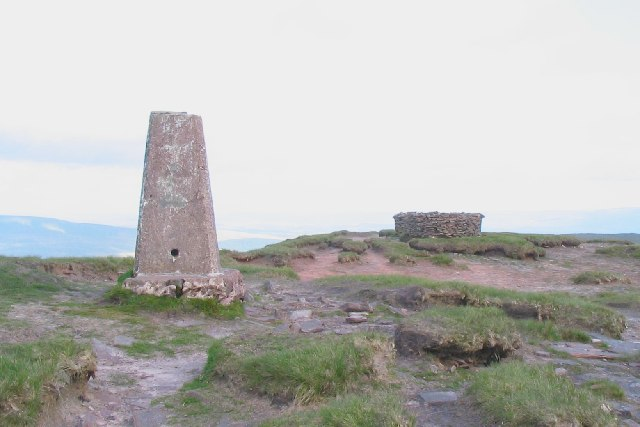 Trig point on Fan Brycheiniog
