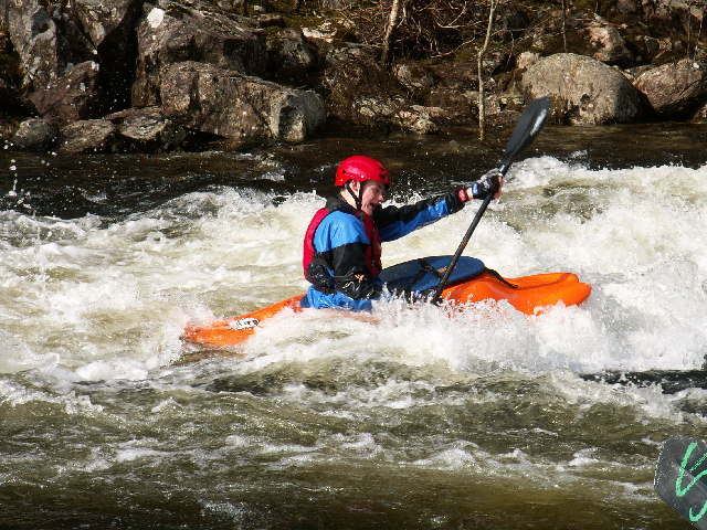 Kayaker on the River Garry