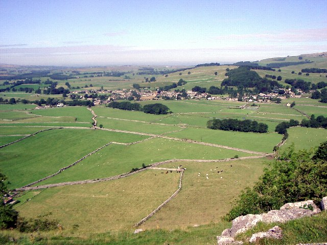 Austwick village from Oxenber
